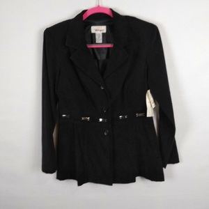 Worthington Womens  Blazer Jacket Black Size 8 NWT